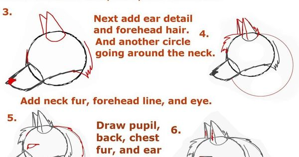 how to draw a corgi head