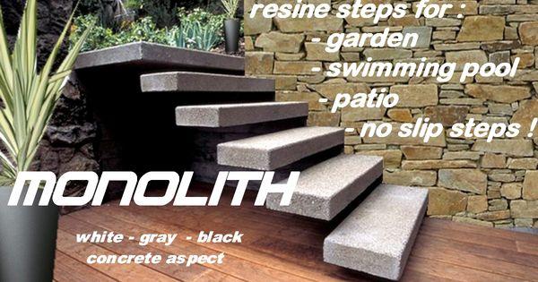 Floating Outdoor Patio Stairs,escalier exterieur,marche en resine