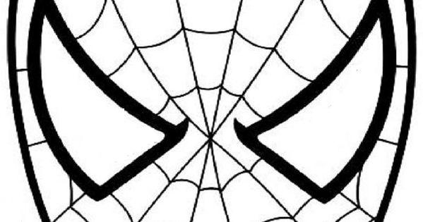 Masque spiderman a colorier d coupage a imprimer projets - Masque spiderman a imprimer ...