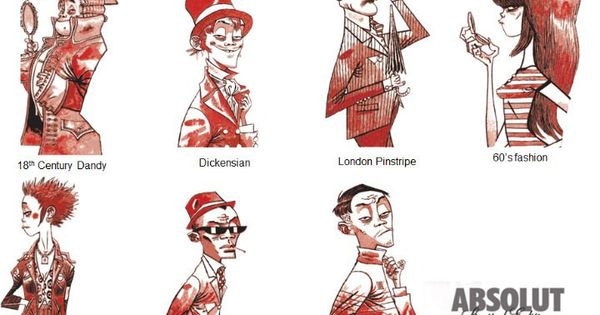Character Design London : Absolut london by jamie hewlett character
