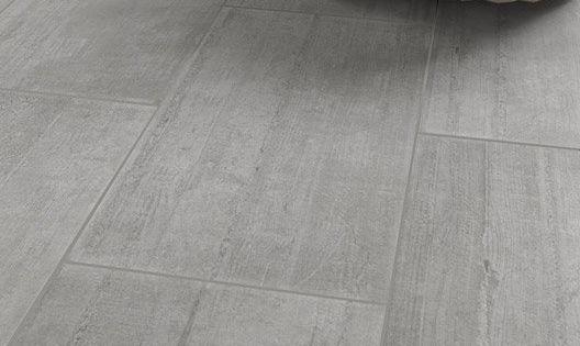 Carrelage intérieur Industry en grès cérame émaillé, gris ...