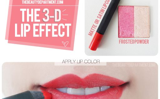 #lips makeup tricks red pump beauty style vanity The Fuller Lip trick!