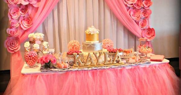 It'S A Girl/ Pink and silver Baby Shower Party Ideas | Photo 16 of 24 | Catch My Party