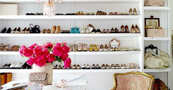 Inspiration for the female dream closet! The shoe shelves are fantastic! shoes