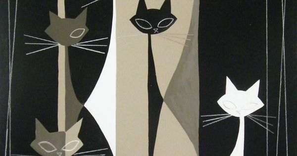 Black & White Cats Print