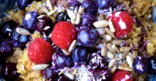 Quinoa, Frühstück and Frühstücksschalen on Pinterest