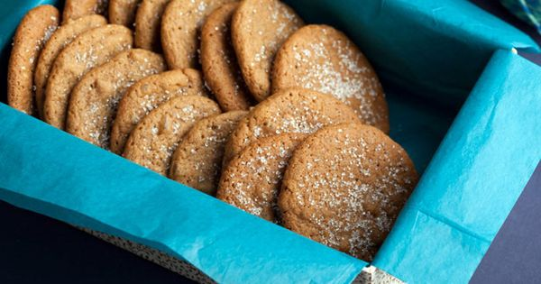 Ginger Snaps recipe from Alton Brown via Food Network