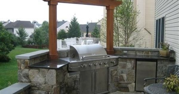 Custom outdoor kitchen the arbor look landscaping and for Custom outdoor bbq kitchens