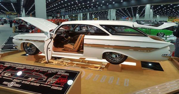 2016 Detroit Autorama Pirelli Great 8 Joe Horish From Wilmington Delaware With His 1961 Chevy Bubble Top Turned Wagon And Named Double B Suv Chevy Chevrolet