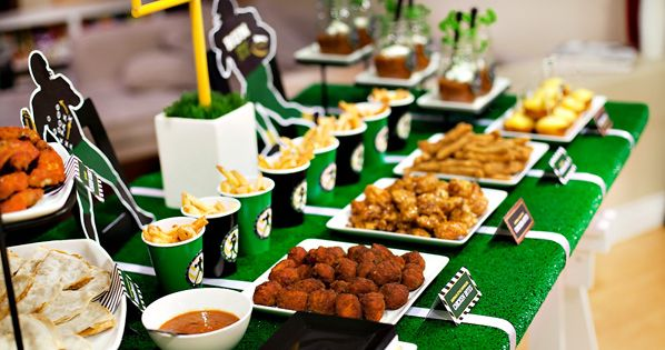 Super Bowl Party Food Table