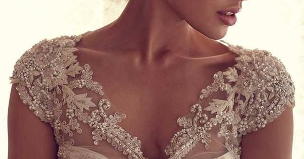 Beautiful beaded detail wedding dress. Cap sleeves. So sweet and feminine. Other