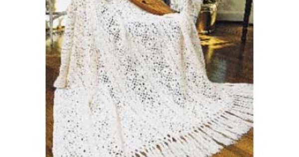 Irish Lace afghan free crochet blanket pattern on ...