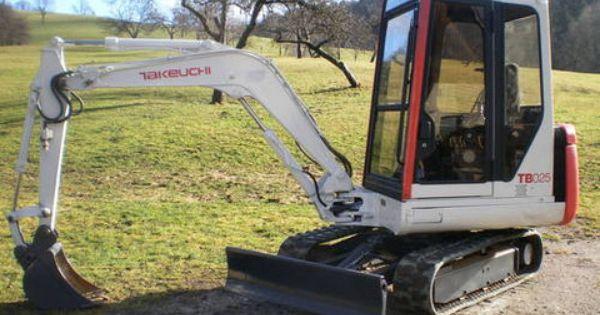Takeuchi Tb025 Compact Excavator Parts Manual Download Sn 1255001 1258249 Repair Manuals Excavator Parts Repair