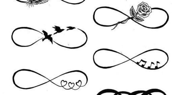 different ideas for the infinity sign tattoo. Black Bedroom Furniture Sets. Home Design Ideas