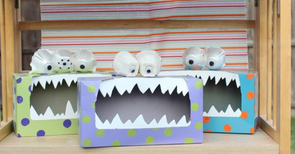 Recycle egg cartons and Kleenex boxes for valentines day.