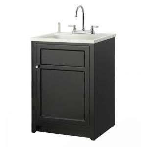 Foremost Conyer 24 In Laundry Vanity In Black And Abs Sink In