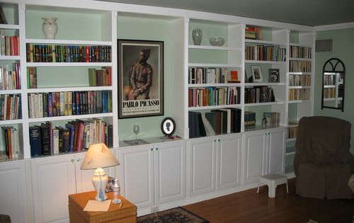 Get Built In Bookcases Inexpensively By Using Pre Made