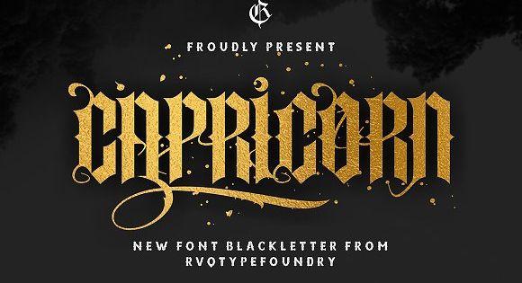 New Capricorn – Blackletter font