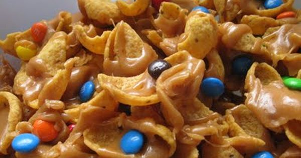 Salty Sweet Peanut Butter Caramel Funky Fritos. They are amazing! @Sara Cooper