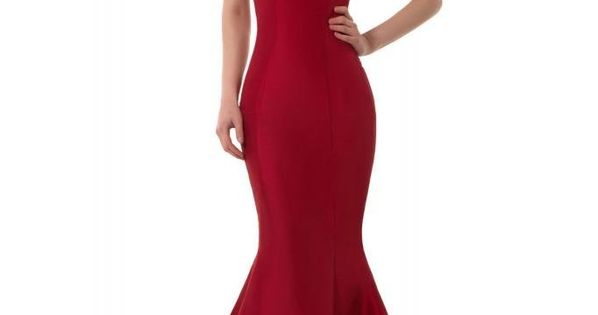Mermaid Prom Formal Dresses | Brief Elegant Burgundy Mermaid One-Shoulder Evening Dress