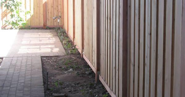 Modern Vertical Cedar Wood Fence Amp Gate Pasadena Ca