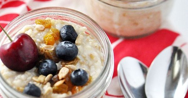 Easy Overnight Crock Pot Steel Cuts Oatmeal with Raisins, Sunflower Seeds, Berries