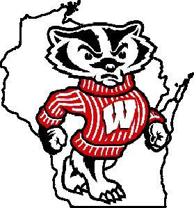 Wisconsin Badgers Bucky Outline Logo Wisconsin Badgers