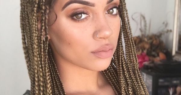 Brown Blonde Box Braids M A N E Pinterest Blonde Box