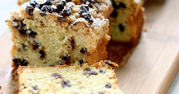 Chocolate Chip Crumb Cake ~ Made with buttermilk for a moist cake!
