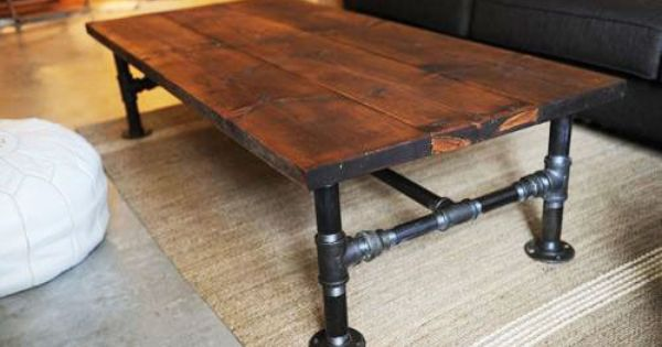 diy decorating ideas industrial looking wood coffee tables can be quite expensive to get the. Black Bedroom Furniture Sets. Home Design Ideas