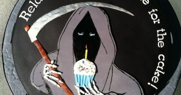 Grim Reaper 50th Birthday Cake Gateaux Pinterest