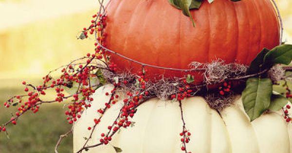 Fall pumpkin topiary-