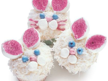 #Easter Cupcakes Coconut Easter Bunny Cupcakes