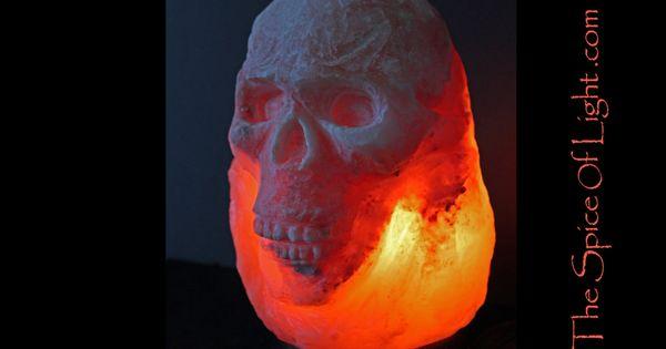 Salt Lamps Kuwait : Cryptic skull Himalayan salt lamp sculpture by TheSpiceOfLight, USD 145.00 Light the world ...