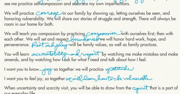 brene brown parenting manifesto pdf