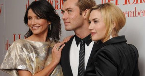 Jude Law (with The Holiday co-stars Cameron Diaz & Kate Winslett ...