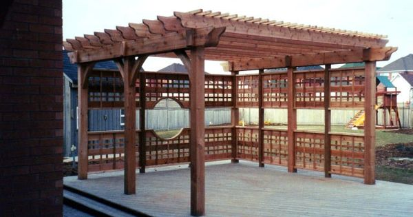 Build To Suit Pergola Downloadable Woodworking Plan