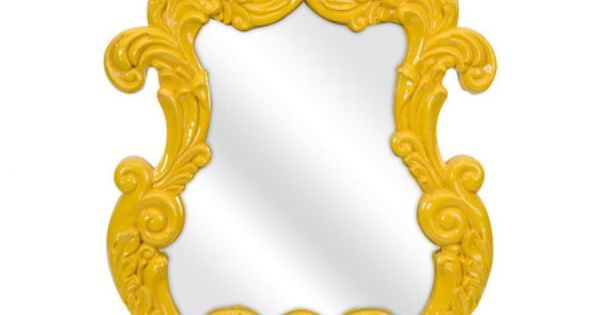 Wall mirror with a baroque inspired frame product wall for Baroque mirror canada