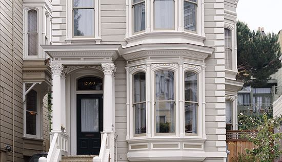 New windows and a fresh coat of paint gave this revamped rowhouse