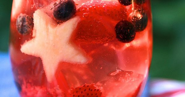 Fresh Fruit Spritzer- 4th of July