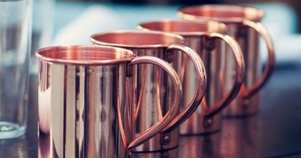 Solid Copper Moscow Mule Mug by Paykoc (12081x4): Kitchen & Dining