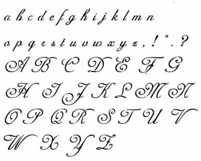 Beautiful Handwriting Tattoo Alphabet Alphabet Handwriting Practice Tattoo Fonts Alphabet