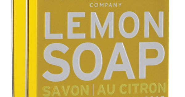 Lemon Soap, Scottish Fine Soap Company | www.scottishfinesoaps.com packaging design