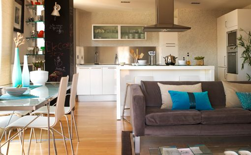 Sal n comedor y cocina integrados decoratrix for Decoracion cocinas integradas