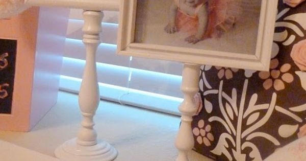 Picture Frames and spindles or candle holders