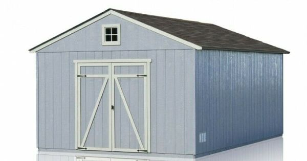 Wooden Single Car Garage Gable Roof Storage Shed With Floor 12 X 20 Feet Barn Handyhome Shed Roof Storage Gable Roof Design