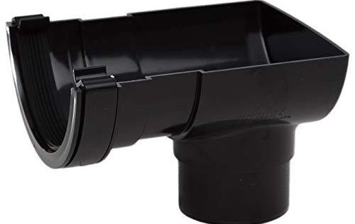 Polypipe Rr106 Black Stop End Outlet For 112mm Half Round Guttering System For Just 10 50 Brand Polypipe Half Round Color In 2020 Half Round Guttering Outlet Round