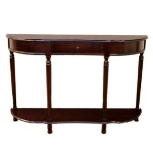 Homecraft Furniture Dark Cherry Storage Console Table Mh159 Traditional Console Tables Sofa Table With Drawers Contemporary Console Table