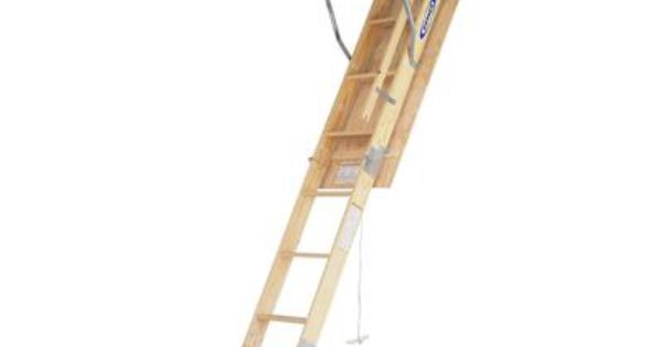 Werner Wood Attic Ladder 250 Load Capacity 8 Feet 9