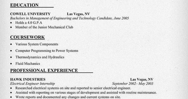 Mechanical Engineering #Internship Resume Sample (resumecompanion.com)